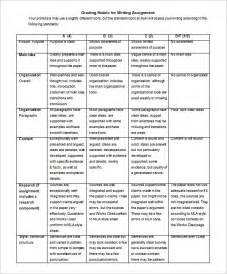 Rubrics Template by Poster Rubric Template Appendix 3 Sle Rubrics For