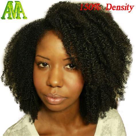 hair dye for kinky hair com 150 density brazilian virgin hair wig afro kinky curly
