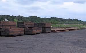 Railway Sleepers Norfolk by Railway Yard With Sleepers And Track 169 Roger Jones Cc By