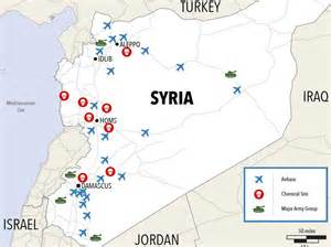 Maps Of Syria by Map Of Western Forces Near Syria Business Insider