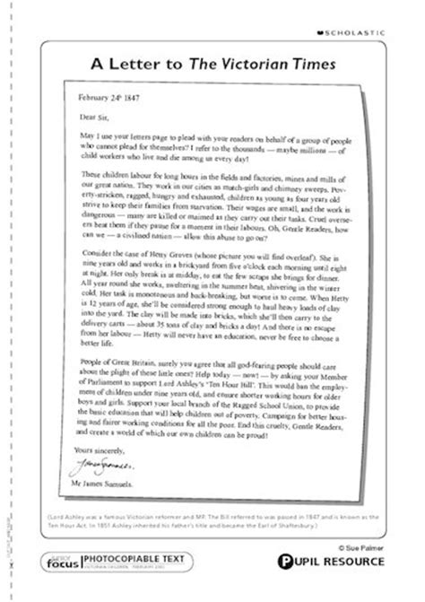 layout of a persuasive letter ks2 letter to the victorian times primary ks2 teaching