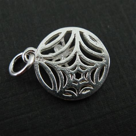 how to make sterling silver jewelry at home sterling silver web charm spider web charm spider charm