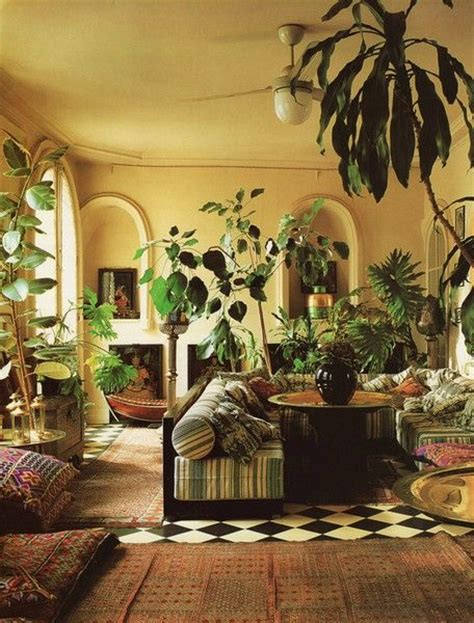 plants rugs floor pillows furniture lighting bohemian