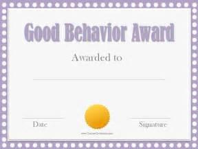 Reward Certificate Templates by Behavior Award Certificates