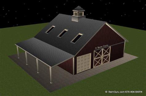 Barn Style Floor Plans barn plans 3 stall horse barn design floor plan ga
