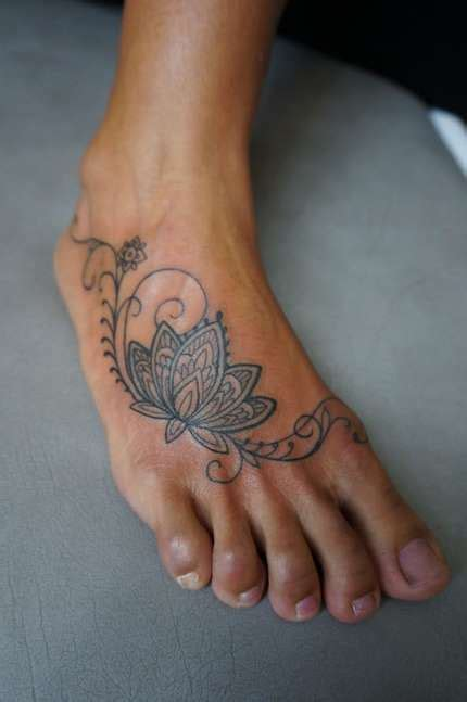 lotus foot tattoo designs lotus flower foot shortlist
