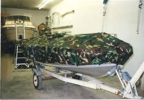 duck blind boat cover kuehls canvas customer boat covers