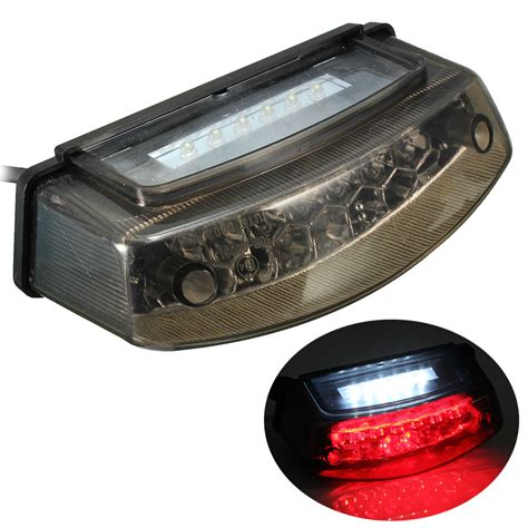12v Smoke Motorcycle Led Rear Tail Brake Stop Light Number Led Brake Light Motorcycle