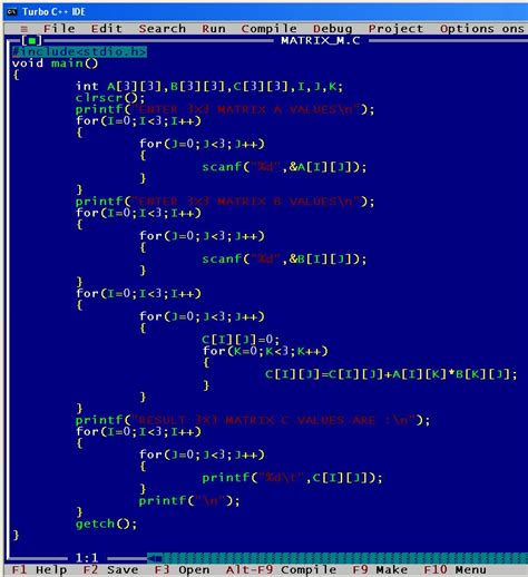 pattern programs in c using array write a program to multiply two 2 d matrices download