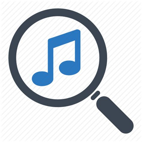 Musically Search Find Magnifier Musical Note Search Icon Icon Search Engine