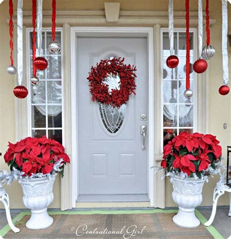 how to decorate indoor column for xmas porch decorations celebration all about