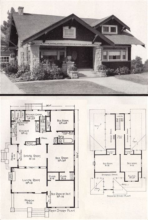 Sears Homes Floor Plans california bungalow by e w stillwell c 1918