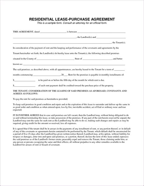 rent to buy contract template simple contract template proposalsleletter