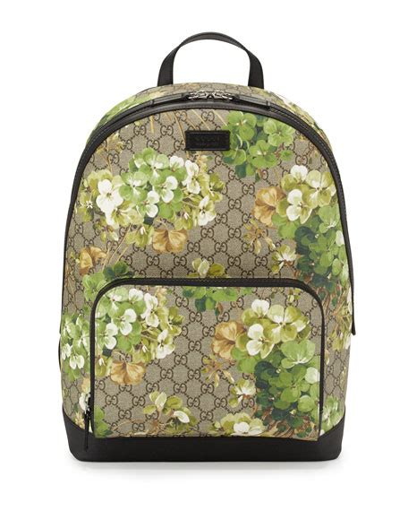 Gucci Gg Blooms Floral Flats 268 3 gucci gg blooms canvas backpack multi