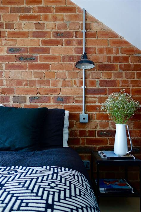 exposed brick wall the loft bedroom final reveal exposed brick walls