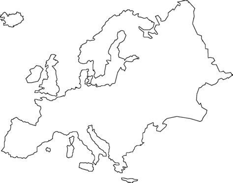 Modern History Of Europe Outline by Europe Clipart Black And White Pencil And In Color