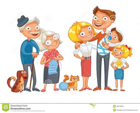 clipart famiglia grande famiglia felice illustrazione vettoriale