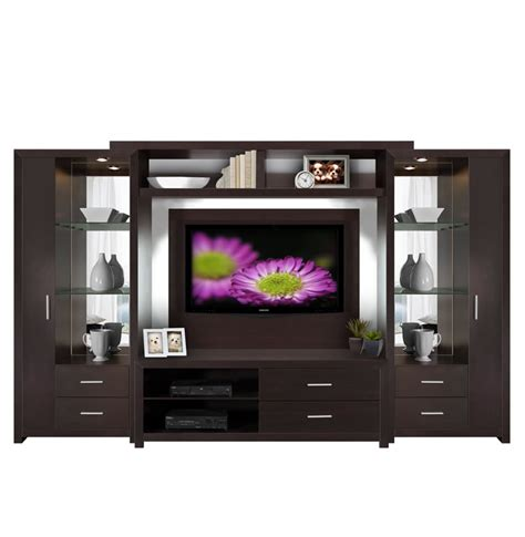 entertainment center glass shelves accent