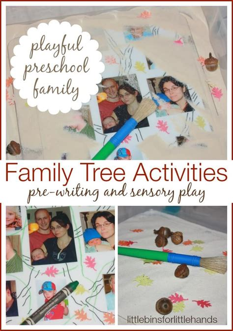 kindergarten activities on family my family tree activity for kids sensory play and pre