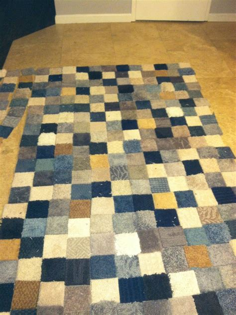 Diy Patchwork Rug - patchwork rug made from free carpet sles and gorilla