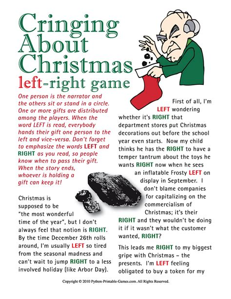 printable christmas party games for work holiday gift exchange games printable games