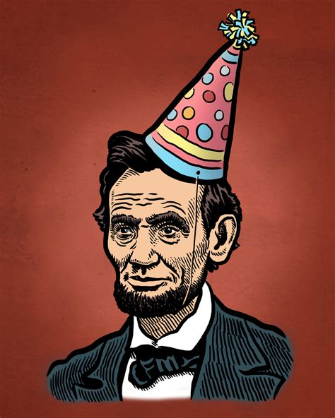 lincoln bday abe lincoln birthday print