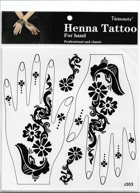 henna tattoo hand sticker lace transfer new black henna arm sticker