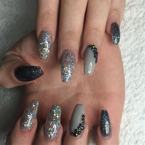 Acrylic Nail Designs by 25 Glitter Acrylic Nail Designs Ideas Design