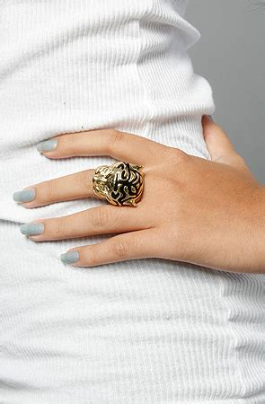 Tiger Eye Ii Ring 19 obey the of the tiger ii ring in gold karmaloop