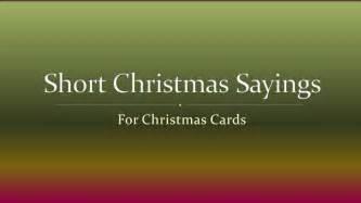 Short christmas sayings for christmas cards youtube