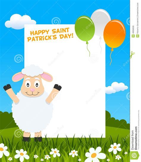 s day character connections sheep and balloons photo frame stock vector image 49058936