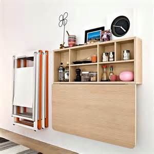 Folding Table Wall Mounted Wood Wall Mounted Furniture Storage With Drop Door Beside Mounted Folding Chair Storage For