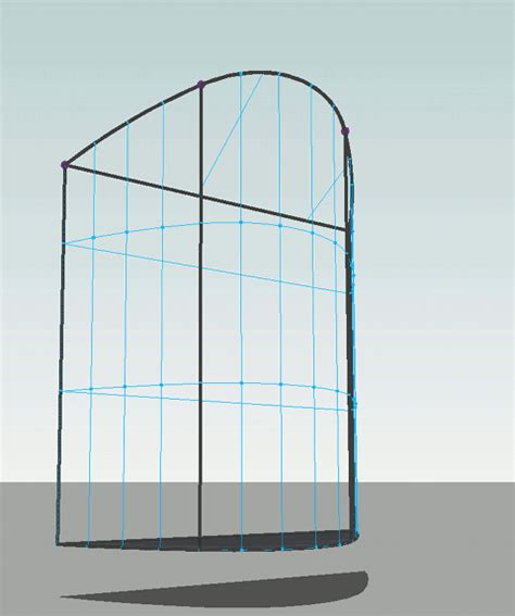 curved curtain wall revit revit adaptive component practical archetypes curved