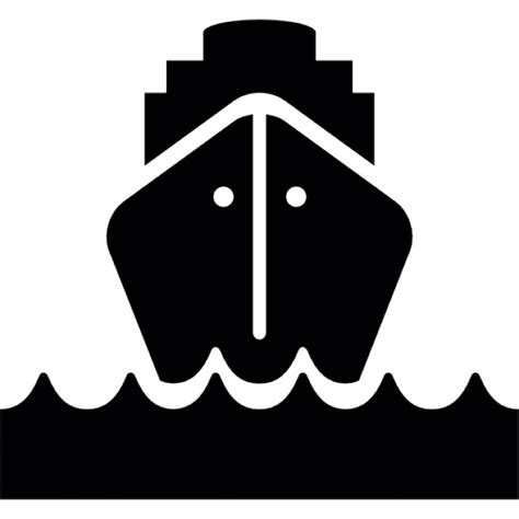 boat front icon cargo ship at sea front view icons free download