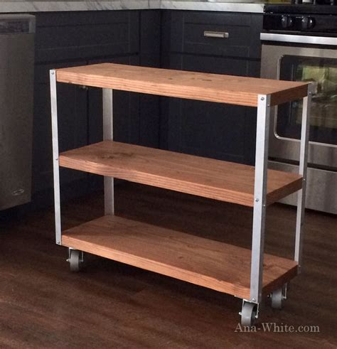 diy kitchen cart ana white easiest industrial cart diy projects