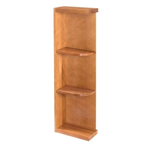 Kitchen Cabinet Shelf Home Decorators Collection Hargrove Cinnamon Assembled 6x30x12 In Wall Kitchen Open End Shelf