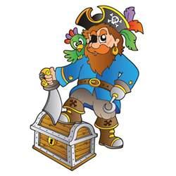 Treasure Decor Kinder Wandtattoo Pirat Mit Schatzkiste Wandtattoo