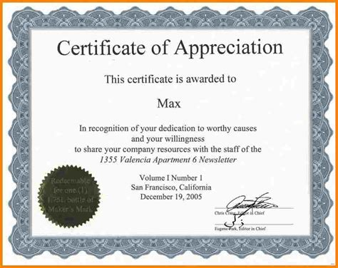 employee recognition certificate template appreciation certificate template relevant gallery