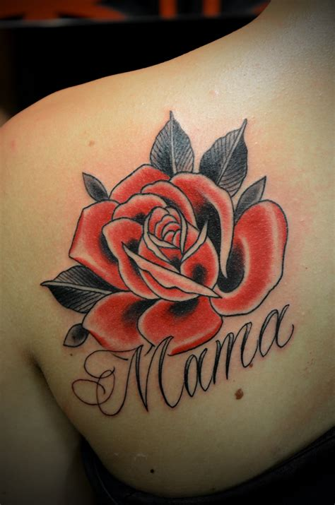 traditional style rose tattoo neo traditional design images style