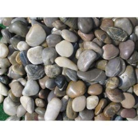 ms international 40 lb large mixed polished pebbles bag