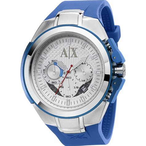 armani exchange ax1041 mens active sport ranger silver