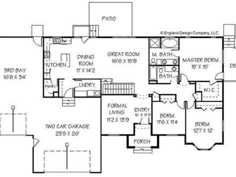 ranch style house floor plan design shotgun house