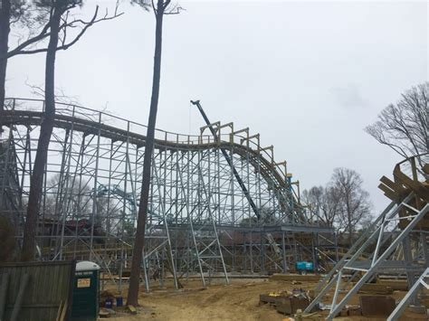 Busch Gardens New Coaster by Sneak Preview Of New Wooden Roller Coaster At Busch