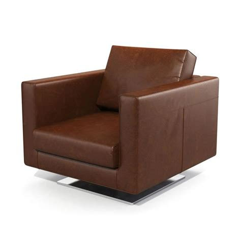 Brown Leather Armchair by Brown Leather Armchair 3d Model Cgtrader