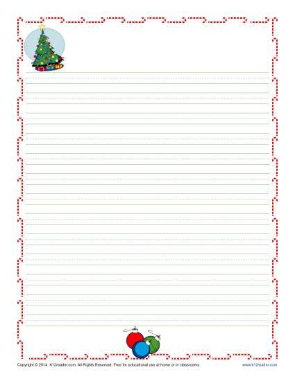 christmas writing paper christmas writing paper for kids free printable template writing paper with borders for christmas