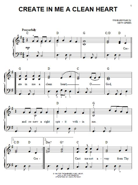 in the house in a heartbeat piano sheet music create in me a clean heart sheet music direct