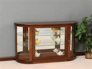 Curio Cabinet Console Table Amish Large Curio Console Cabinet With Rounded Sides