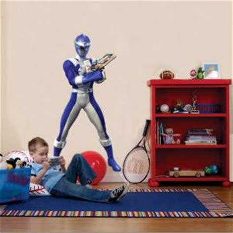 power rangers bedroom accessories blue power ranger decal removable wall sticker home decor