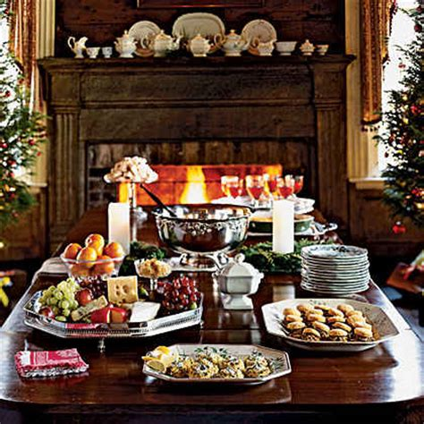 themes for christmas open house holiday party planning made easy myrecipes
