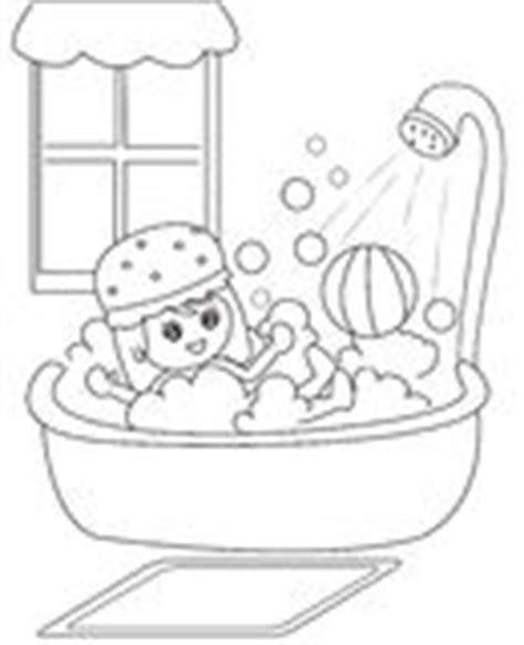 Clip Art Child Taking Bath Stock Photos Images Bath Time Coloring Pages
